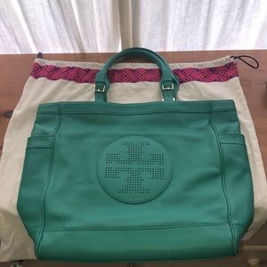 Tory Burch Soft Leather Tote Bag